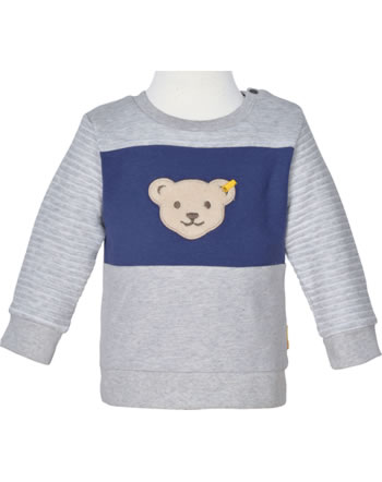 Steiff Sweatshirt HIGH FIVE Baby Boys soft grey melange 2111325-9007