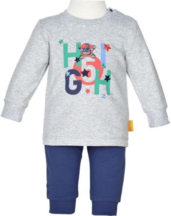 Steiff Sweatshirt + Hose HIGH FIVE Baby Boys soft grey melange 2111306-9007