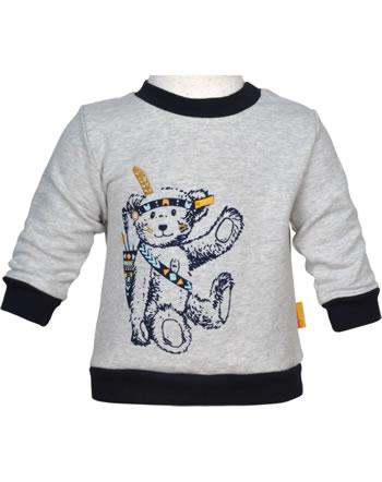 Steiff Sweatshirt INDI BEAR Baby Boys soft grey melange 2022305-9007