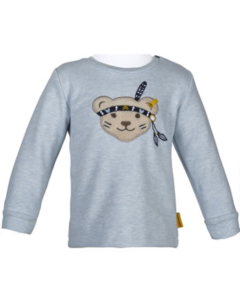 Steiff Sweatshirt INDI BEAR Baby Boys steiff baby blue 2022306-3023