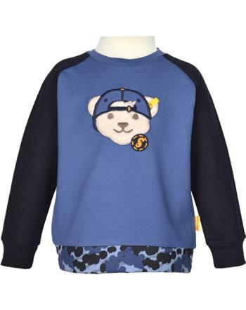 Steiff Sweatshirt LETS PLAY Mini Boys bijou blue 2121107-6066