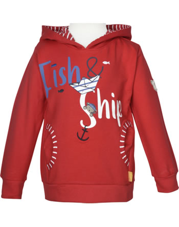 Steiff Sweatshirt m. Kapuze FISH AND SHIP Mini Boys true red 2112124-4015