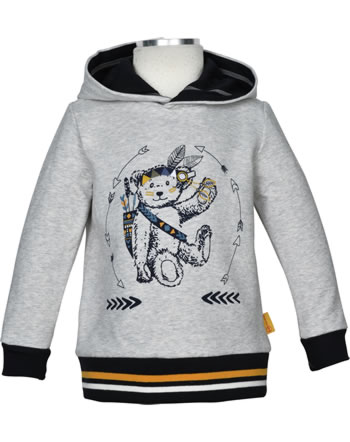 Steiff Sweatshirt m. Kapuze INDI BEAR Mini Boys soft grey melange 2022107-9007