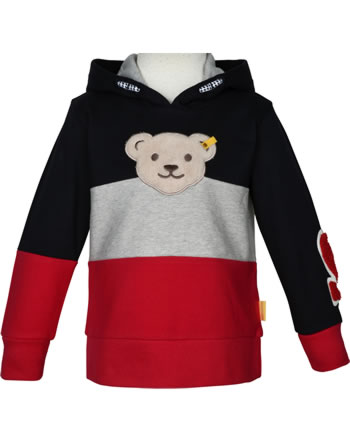 Steiff Sweatjacket hooded BEAR TO SCHOOL steiff navy 1922505-3032