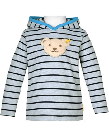 Steiff Sweatshirt m. Kapuze u. Quietsche BLUE STRIPE quarry 1922505-9007