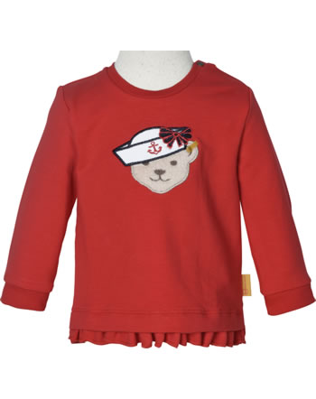 Steiff Sweatshirt MARINE AIR Baby Girls true red 2112434-4015