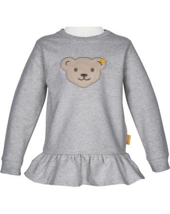 Steiff Sweatshirt mit Quietsche BEAR TO SCHOOL soft grey melange 2021206-9007
