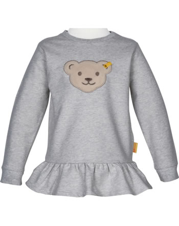 Steiff Sweatjacket Squeaker BEAR TO SCHOOL soft grey melange 2021206-9007