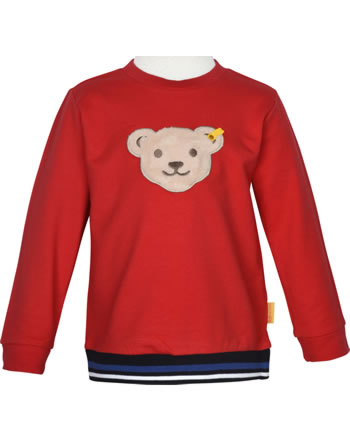 Steiff Sweatshirt mit Quietsche FISH AND SHIP Mini Boys true red 2112125-4015