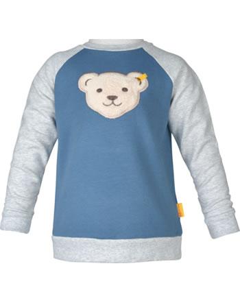 Steiff Sweatshirt mit Quietsche INDI BEAR Mini Boys coronet blue 2022108-6048