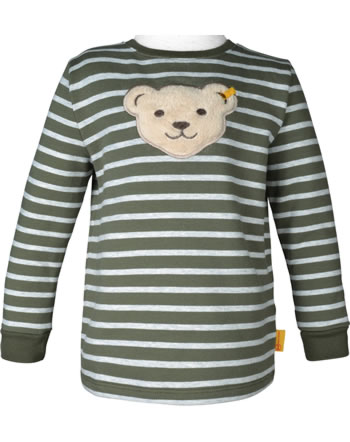 Steiff Sweatshirt mit Quietsche INDI BEAR Mini Boys dusty olive 2022106-5020