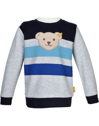 Steiff Sweatshirt mit Quietsche SAFARI BEAR soft grey melange 2013321-9007