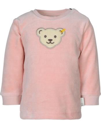 Steiff Sweatshirt ORGANIC DOTS Baby Girl silver pink 2122511-3015