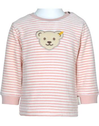 Steiff Sweatshirt ORGANIC DOTS Baby Girl silver pink 2122521-3015