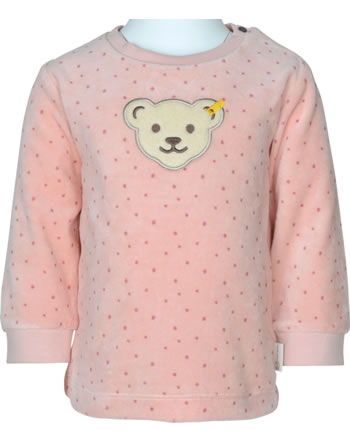 Steiff Sweatshirt ORGANIC DOTS Baby Girl silver pink 2122522-3015