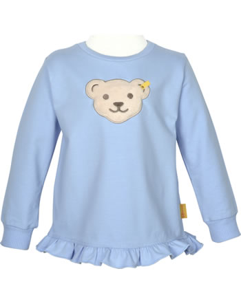 Steiff Sweatshirt Quietsche HELLO SUMMER Mini Girls brunnera blue 2113222-6043