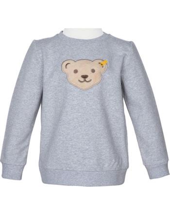 Steiff Sweatshirt Quietsche HIGH FIVE Mini Boys soft grey melange 2111122-9007