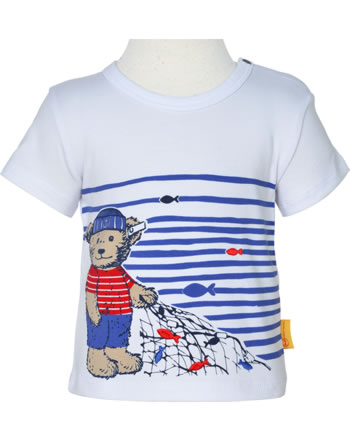 Steiff T-Shirt Kurzarm FISH AND SHIP Baby Boys bright white 2112311-1000
