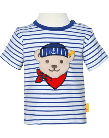 Steiff T-Shirt Kurzarm FISH AND SHIP Baby Boys bright white 2112338-1000
