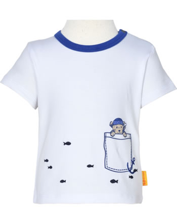 Steiff T-Shirt Kurzarm FISH AND SHIP Baby Boys bright white 2112343-1000