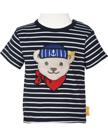Steiff T-Shirt Kurzarm FISH AND SHIP Baby Boys steiff navy 2112338-3032