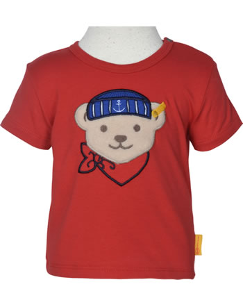 Steiff T-Shirt Kurzarm FISH AND SHIP Baby Boys true red 2112310-4015