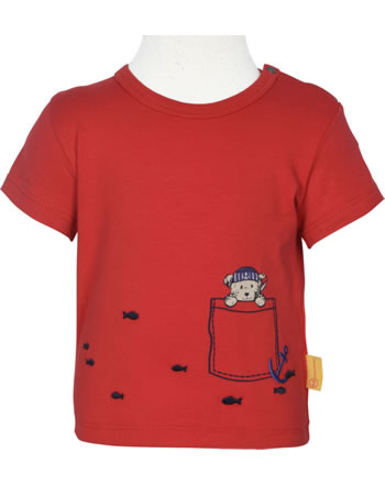 Steiff T-Shirt Kurzarm FISH AND SHIP Baby Boys true red 2112343-4015
