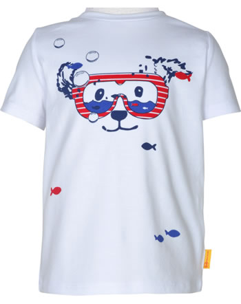 Steiff T-Shirt Kurzarm FISH AND SHIP Mini Boys bright white 2112127-1000