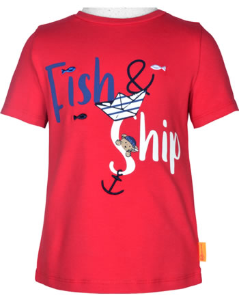 Steiff T-Shirt Kurzarm FISH AND SHIP Mini Boys true red 2112104-4015