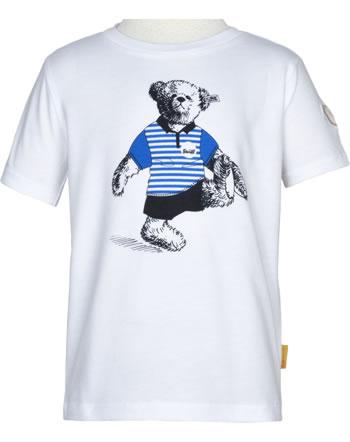 Steiff T-Shirt Kurzarm GO BEAR GO bright white 2011419-1000