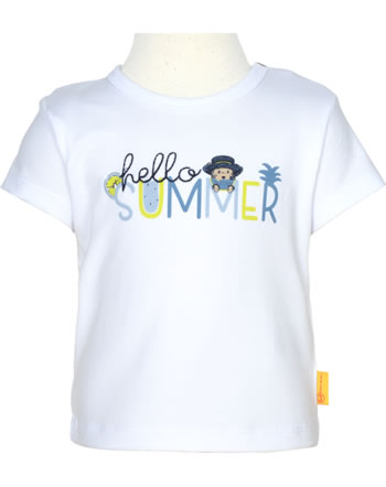 Steiff T-Shirt Kurzarm HELLO SUMMER Baby Boys bright white 2113337-1000