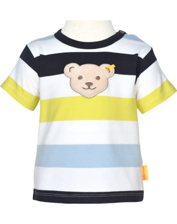 Steiff T-Shirt short sleeve HELLO SUMMER Baby Boys steiff navy 2113307-3032