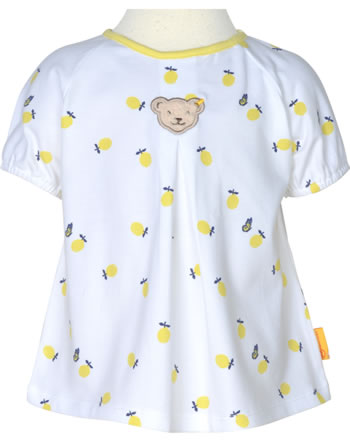 Steiff T-Shirt Kurzarm HELLO SUMMER Baby Girls bright white 2113401-1000