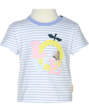 Steiff T-Shirt Kurzarm HELLO SUMMER Baby Girls brunnera blue 2113404-6043