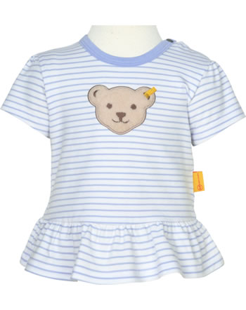 Steiff T-Shirt Kurzarm HELLO SUMMER Baby Girls brunnera blue 2113432-6043