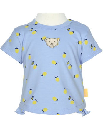 Steiff T-Shirt Kurzarm HELLO SUMMER Baby Girls brunnera blue 2113433-6043