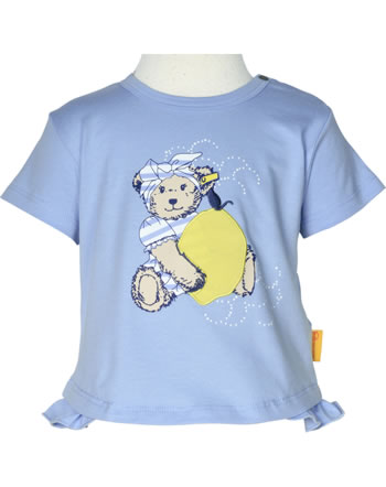 Steiff T-Shirt Kurzarm HELLO SUMMER Baby Girls brunnera blue 2113438-6043