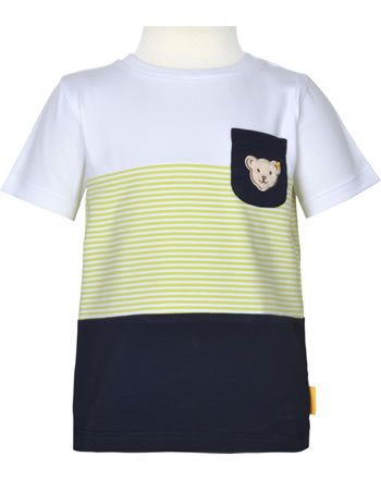 Steiff T-Shirt Kurzarm HELLO SUMMER Mini Boys bright white 2113123-1000