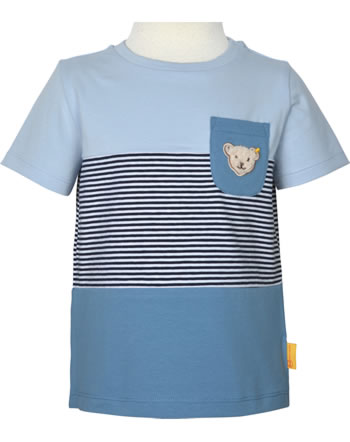 Steiff T-Shirt Kurzarm HELLO SUMMER Mini Boys kentucky blue 2113123-6020