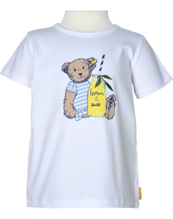 Steiff T-Shirt Kurzarm HELLO SUMMER Mini Girls bright white 2113223-1000