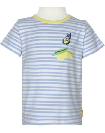 Steiff T-Shirt Kurzarm HELLO SUMMER Mini Girls brunnera blue 2113204-6043