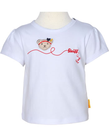 Steiff T-Shirt Kurzarm MARINE AIR Baby Girls bright white 2112401-1000