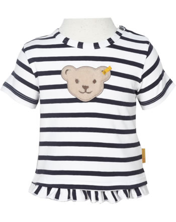 Steiff T-Shirt Kurzarm MARINE AIR Baby Girls steiff navy 2112437-3032