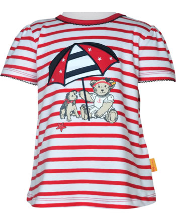 Steiff T-Shirt Kurzarm MARINE AIR Mini Girls true red 2112226-4015