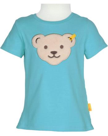 Steiff T-Shirt Kurzarm mit Quietsche SAFARI BEAR blue atoll 2013331-6041