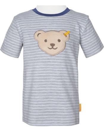 Steiff T-Shirt Kurzarm Quietsche HIGH FIVE Boys soft grey melange 2111101-9007