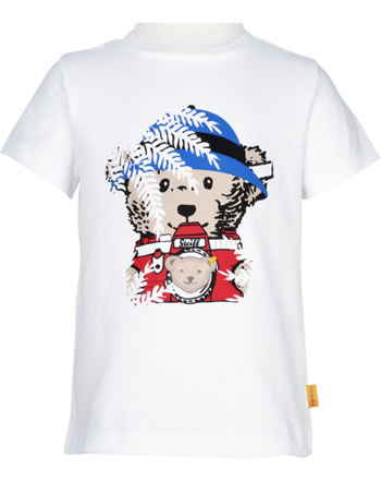 Steiff T-Shirt Kurzarm SAFARI BEAR bright white 2013328-1000