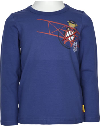 Steiff T-Shirt Langarm AIRPLANE Mini Boys blue ribbon 2122115-6067