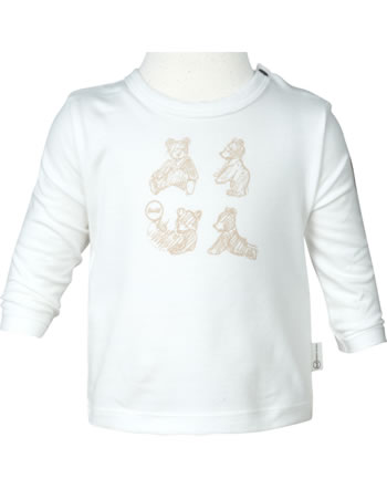 Steiff T-Shirt Langarm BEAR HUGS Baby Boys cloud dancer 2022628-1001