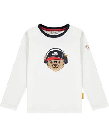 Steiff T-Shirt Langarm BEAR TO SCHOOL cloud dancer 2021102-1001